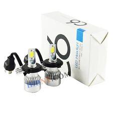 C6 LED Headlights Kit H4 Hi/Lo CREE COB 72W 7600LM/Set Xenon White Super Bright