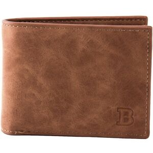 Bifold Mens Slim Wallet Genuine Leather Pocket Credit Card ID Coin Holder Zipper