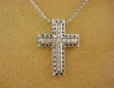 TOP Collier Chimento Kreuz 750 Gold 16 Brillanten 38 Saphire Oro 18K ca. 7,5 g.
