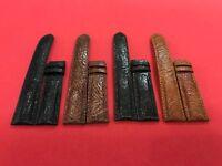 Genuine Ostrich Leg Skin Leather Watch Strap Band 18mm/24mm
