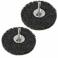 2 x 100mm Clean And Strip Disc Rust Paint Welding Spatter Removal 6mm Shank