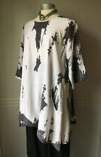 La bass Tunika Kleid Shirt  Lagenlook Gr.2, XL, 48-50 gemustert