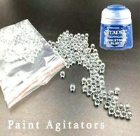 50x Glass Paint Agitators FREE 1ST CLASS POST citadel army vallejo mixing ball