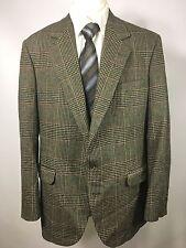 CORBIN Houndstooth Windowpane Sport Coat Jacket Size 42 R Oliver