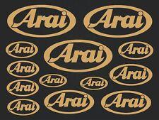 Arai - set of stickers- motosport - 13 kit- gold  SK-151