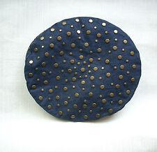 béret chapeau clouté Sonia Rykiel jean et clou bronze