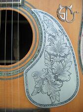 Hand engraved classical pattern aluminum pickguard fits 40 41 acoustic guitar