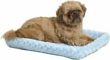 MidWest Bolster Pet Bed   Dog Beds Ideal for Metal Dog Crates, 24 Inch, Blue
