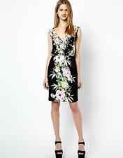 BNWT - French Connection 'Desert Tropicana' Print Dress (Black) Size UK 10