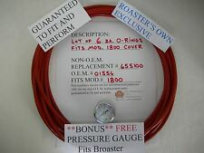 """6ea.FITS BROASTER, COVER O-RING w/FREE GAUGE FOR MODEL 1800,12"""" Dia.HIGH QUALITY"""