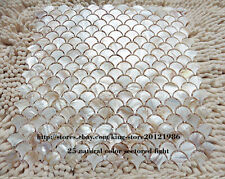 1 PCS fish scale shell mosaic tile mesh of pearl kitchen backsplash wall tiles