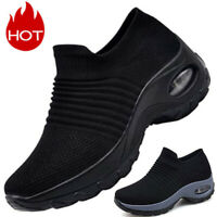 Women's Sport Trainers Sneakers Breathable Mesh Walking Slip-On Running Shoes