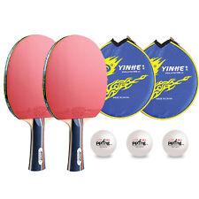 Expert Ppong Yinhe Table Tennis Set - 2 x 3 Star bat with cases + 3 balls UK