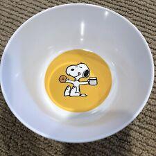 NEW Pottery Barn Kids Peanuts Snoopy Bowl -Snoopy with Doughnut/Milk