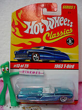2005 Hot Wheels S1 Classics #13  '63 Ford T-BIRD 1963 ☆Ice Blue; wl7sp☆Series 1