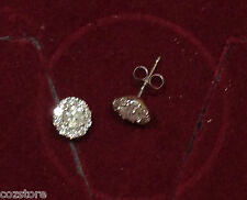 .76 ctw Diamond Round Stud Pierced Flower Earrings 14 Kt White Gold $3350
