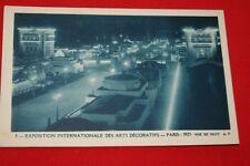 PARIS 1925 EXPOSITION INTERNATIONALE DES ARTS DECORATIFS VUE DE NUIT Ed. AP N°8