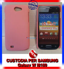 Pellicola + custodia back cover case ROSA per Samsung Galaxy W I8150