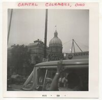 Capitol, Statehouse INDIANAPOLIS IN Original 1959 Indiana Coca Cola Photograph