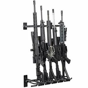 Hold Up Displays - 6 Gun Rack and Rifle Storage- Heavy Duty Steel - Made in USA