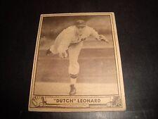 Dutch Leonard 1940 Playball Baseball Card #23 VG+ ROOKIE Washington Senators
