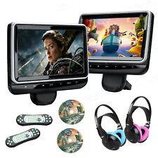 2x HDMI 10.1'' Auto Kopfstütze Monitor DVD Player USB SD AV-IN Spiel Kopfhörer
