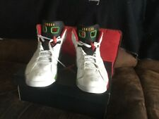 nike jordan retros 7 in great condition size 11.5 white blue red green rare