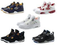 Nike 308497 Mens Air Jordan 4 Retro High Top Basketball Athletic Shoes Sneakers