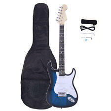New 6 Strings Right-Handed Electric Guitar +Strap+Cord+Gigbag+Accessories Blue