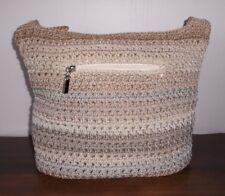 THE SAK Shades of Brown / Tan, Crochet / Knit SHOULDER BAG ~ Excellent Cond.