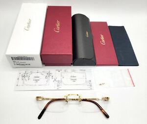 New! Cartier Bolon Golden Frames Eyeglasses