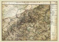 MAP AUSTRO-HUNGARIAN MILITARY 1872 KONIGSTETTEN REPLICA POSTER PRINT PAM0540
