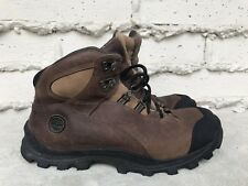 EUC MEN'S TIMBERLAND ALPINE TRAIL WORK BROWN LEATHER BOOTS PRO SERIES SIZE US 9M