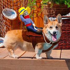 Funny Riding Horse Cowboy Pet Dog Costume Puppy Christmas Costume Clothes Xmas