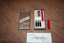 Vintage Used Sheaffer Calligraphy Pen Set 3 Nibs Instructions See Pix!