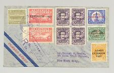 Guatemala 1930 Registered Flight Cover to New York