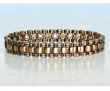 8.25 IN COPPER  MAGNETIC BRACELET NICE DESIGN WITH MAGNET IN EVERY LINK NEW 6446