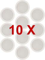 10 x White Ceiling Wall Surround Sound SPEAKER PA HiFI System Audio .184