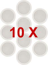 10 x weiße Decke Wand Surround Lautsprecher PA Hifi System Audio .184