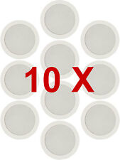 10 X Bianco Da Soffitto Muro SURROUND PA HIFI SISTEMA AUDIO .184