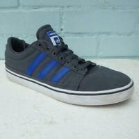 Adidas Rayado Trainers UK 10 Mens Lace up White Grey Blue Skateboarding Boxed