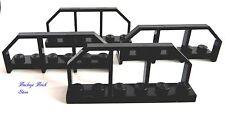 NEW Lego Lot/4 BLACK TRAIN WAGON END Fence Bridge Rail 1x6
