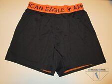 American Eagle AE Mens Performance Slim Knit Boxer Black & Orange Small New NWOT