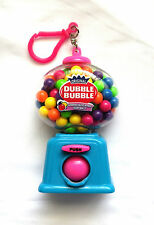 RARE Rainbow Double DUBBLE BUBBLE Mini GUMBALL MACHINE KEYCHAIN Key Ring Clip