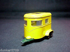 MATCHBOX SERIES #43 YELLOW PONY HORSE TRAILER DIECAST BY LESNEY MADE IN ENGLAND