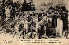 CPA  1914-15 ..Clermont-en-Argonne(Meuse) - Les ruines de l'Église (432393)
