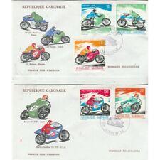 Gabonaise 1976 Motorcycle 5 Values on FDC Mf71262