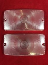 NEW 1969-1977 EARLY FORD BRONCO CLEAR FRONT PARKING / TURN SIGNAL LIGHT LENS SET
