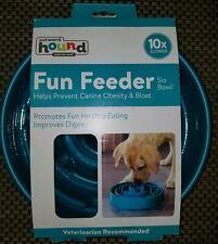 Outward Hound Slow Feeder Dog Bowl Maze Fun Stop Bloat Eating Food Large Teal