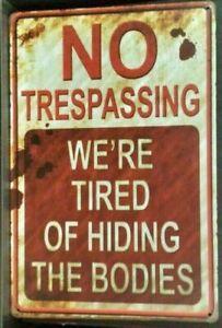 WARNING  Rustic Look Vintage Metal Tin Sign MAN CAVE Shed Garage & Bar Sign
